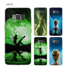 KMUYSL Peter Pan Tinker bell Tinkerbell Wendy TPU Transparan Kasus Lembut penutup Shell Coque untuk Samsung Galaxy S6 S9 S8 Plus S7 Ed(China)