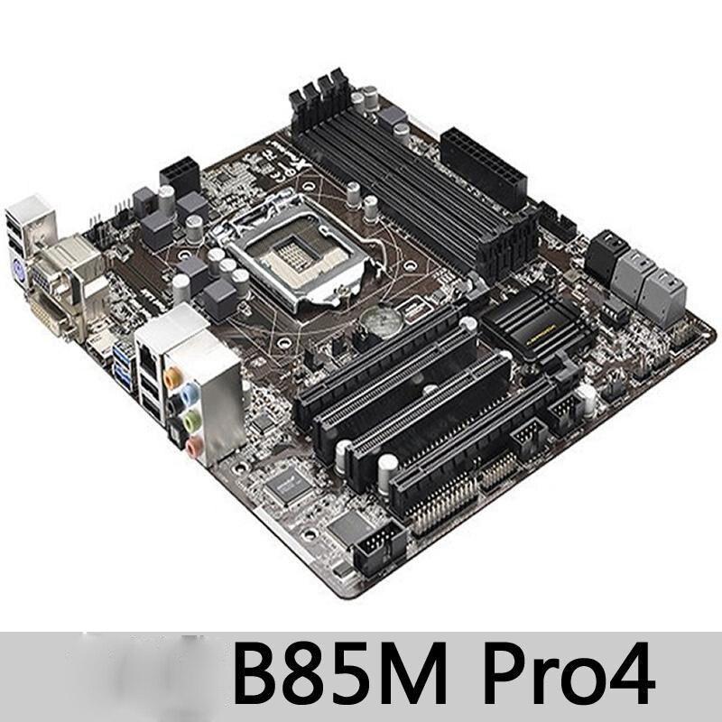 ASROCK B85M PRO4 carte mère B85 Socket LGA 1150 i7 i5 i3 DDR3 32G SATA3 micro-atx utilisé 90% nouveau envoyer un câble sata