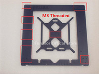 discount store Reprap Prusa i3 MK2 Clone aluminum Single frame +heating bed 6mm thickness black color CNC made