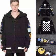 2016 New Off White 13 Exo GD Pyrex badge Religious  Highest technology Color Fleece Hoodie Sweatshirts Cotton Hoodies