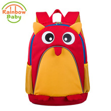 Rainbow Baby Adorkable Owl Kids & Babys Bags Anti Lost School Bags for 2-Eight Years Boys and Girls Bagpack Waterproof Backpack Red