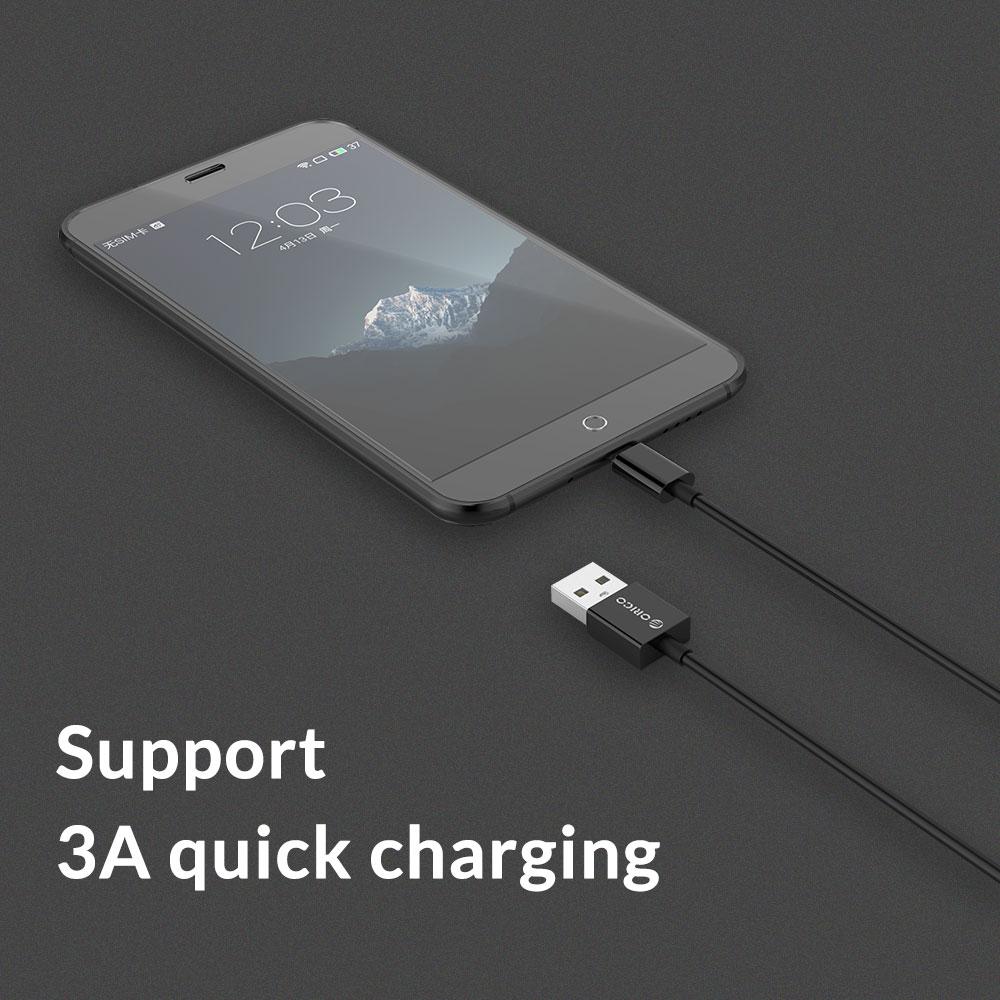 ORICO Mikro USB Kablosu Hızlı Şarj Android USB Data Sync Şarj - Cep Telefonu Yedek Parça ve Aksesuarları - Fotoğraf 5