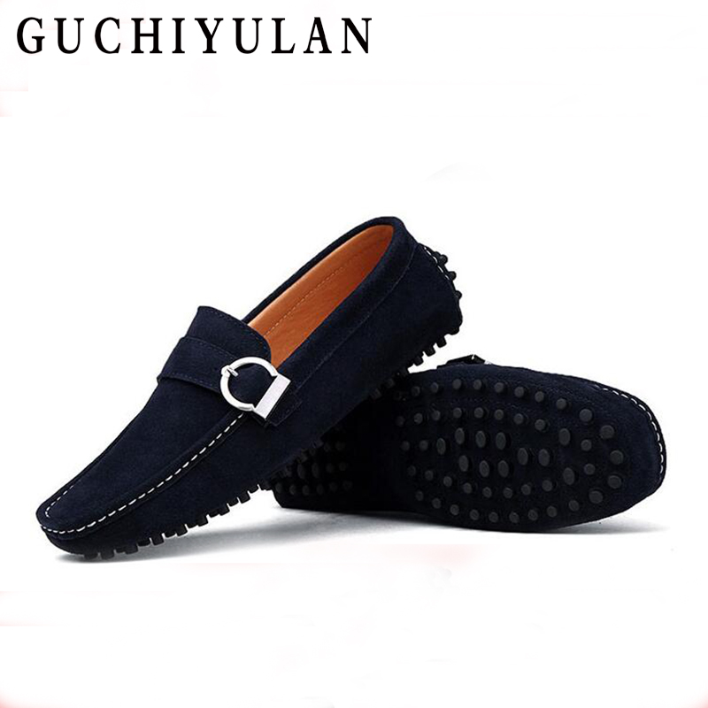 Spring Summer Breathable Moccasins Male Flats Genuine Leather Casual Boat Walking Driver ...