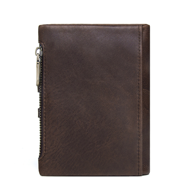 CONTACT'S Genuine Leather Men Wallet Small Men Walet Zipper&Hasp Male Portomonee Short Coin Purse Brand Perse Carteira For Rfid 2