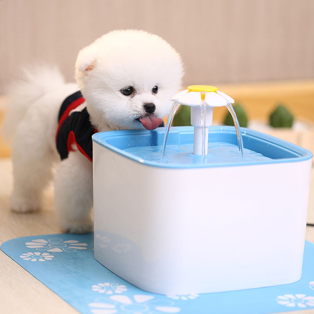 UK/EU/US Plug 2.5L Automatic Cat Water Fountain Electric Water Fountain Dog Cat Pet Drinker Bowl