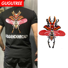 GUGUTREE embroidery big beetle patches animal patches badges applique patches for clothing ZM-100 gugutree embroidery big dragon patches animal patches badges applique patches for clothing dx 18