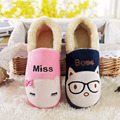 CuddlyIIPanda Brand 2017 Winter Men Women Home Slippers Indoor Kawaii Funny Slippers Lovers Pantufa Couple Animal Slippers