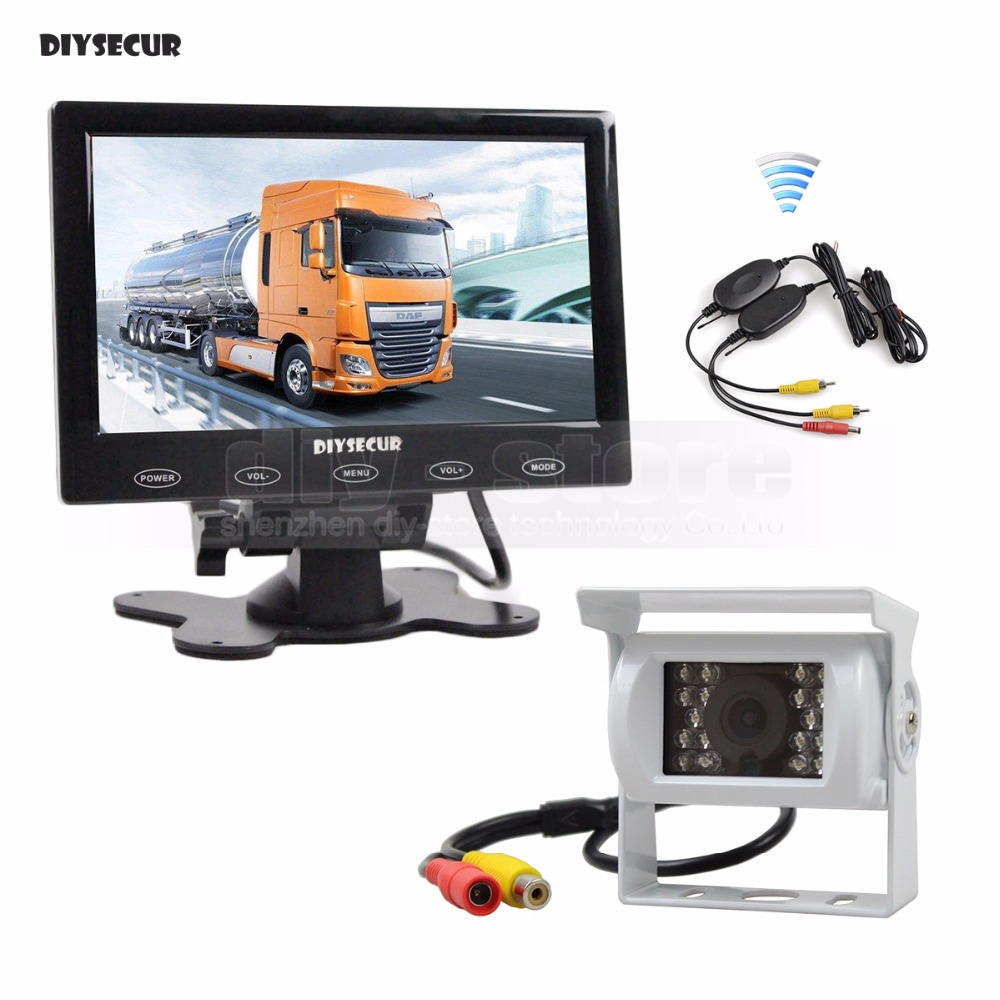 DIYSECUR 7 inch Touch Monitor Waterproof Rear View Camera Kit for Horse Trailer Motorhome Backup CCD