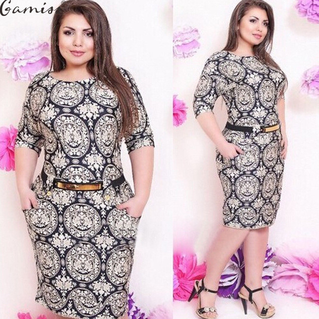 Aliexpress.com : Buy Gamiss Women Plus Size Dresses Office Lady ...