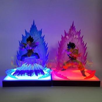 Dragon Ball Z Son Goku Vegeta Super Saiyan DIY Led Lamp Anime DBZ Lighting Decoration