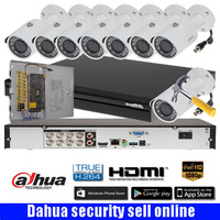 DAHUA DH XVR7108H 8CH 2MP HDCVI DVR Security System kit with 8pcs DAHUA 2MP Network IR Bullet Camera 2MP Waterproof IP camera