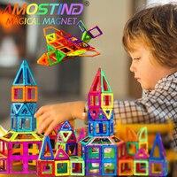 Amosting 150pcs Standard Size Magnetic Building Blocks Enlighten Plastic Educational For Toddlers