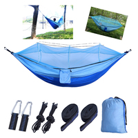 【SINOPED】1 2 P Outdoor Mosquito Net Parachute Hammock Camping Hanging Sleeping Bed Swing Portable Double Chair Hammock