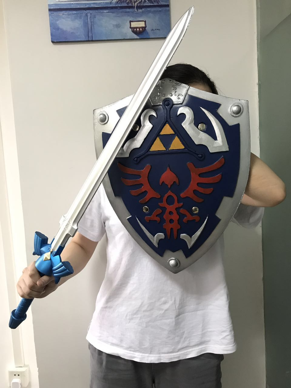 The Legend of Zelda Link's Cosplay equipment Skyward Sword / Shield PU&Foam Modele (Chinese Ver.)