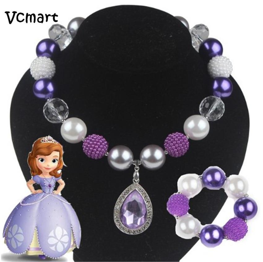 ₩vcmart 1 Set ᓂ Princess Princess Sofia Girl Necklace
