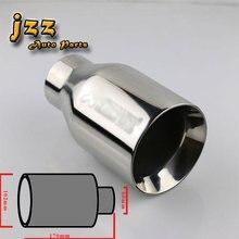 Jzz 60mm einlass universelle hohe qualität edelstahl akrapovic auto auspuffrohr gerade geschnitten schalldämpfer tipps für honda civic