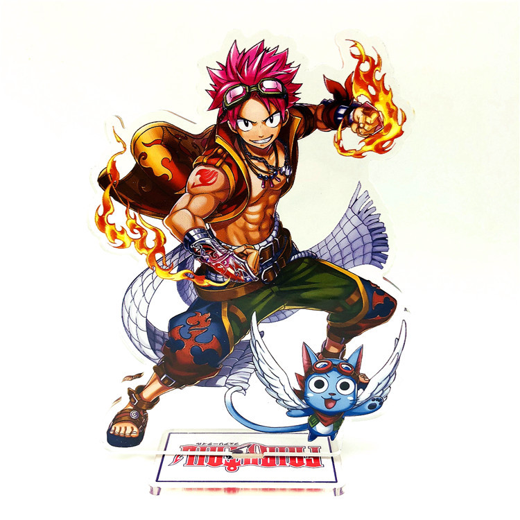 Anime Fairy Tail Display Stand Figure Model Plate Japanese Cartoon Figure Erza Natsu Happy Lucy Stand Holder Jewelry