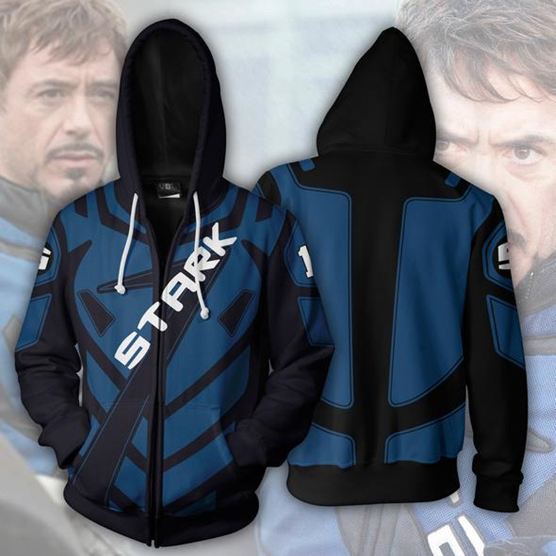 Avengers Iron Tony Stark Man 3D Printed Hoodies Streetwear Casual Cosplay Hooded Jacket clothing