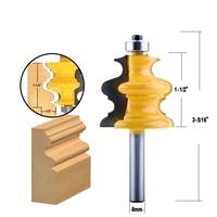 cnc חותך 5PC 8mm Shank מארז & Base נתב דפוס Bit Set CNC Line סכין נגרות חותך שֶׁגֶם קאטר כלים לעיבוד עץ (2)
