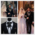 Male dress wedding host bowknot tie European groom bow tie drill wedding party dress bow ties