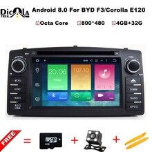 Android 8,0 Octa core 2 Din автомобильный DVD gps для Защитные чехлы для сидений, сшитые специально для Toyota Corolla E120 BYD F3 сенсорный экран WI-FI RDS gps автомобильный радиоприёмник Поддержка OBD DTV DAB +