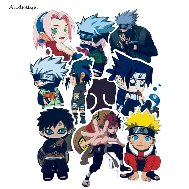 Anime Naruto Sticker 10PCS Waterproof For Laptop Car Trunk Guitar