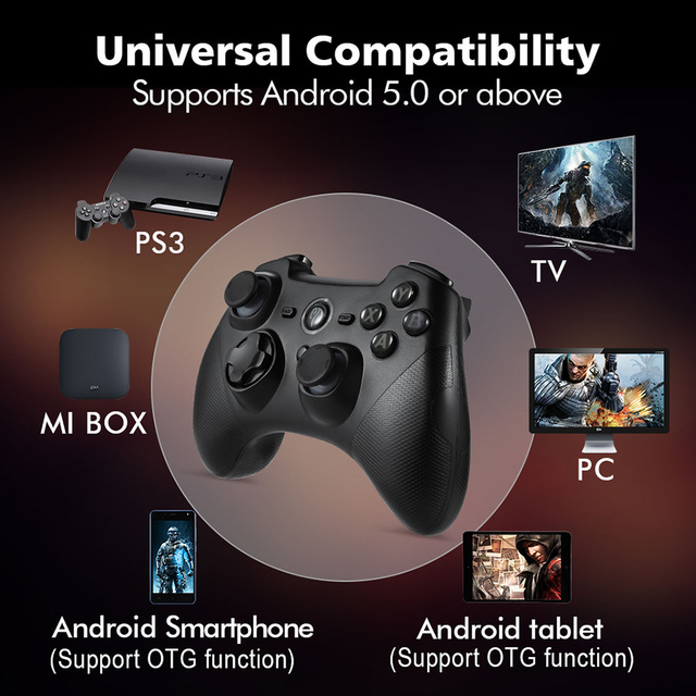 EasySMX ESM-9101 Gamepad for Xiaomi Mi TV Box 3 S Game Controller with Double Vibration Turbo Android Gamepad for PC PS3 Phone