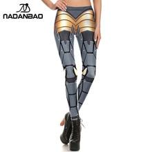 NADANBAO New Fashion Women leggings 3D Printed Bionic ARMOUR plates leggins pant legging for Woman