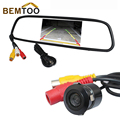 Waterproof Night Vision Car Rear View Camera Vehicle Backup Camera With 4.3 inch TFT Color LCD For Car Mirror Monitor