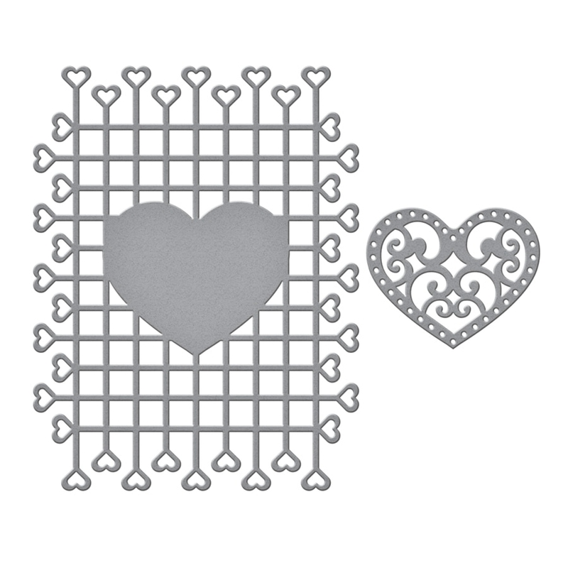 Weave Heart Frame Metal Cutting Dies Stencils For DIY Scrapbooking Decorative Embossing Suit Paper Cards Die Cutting Template