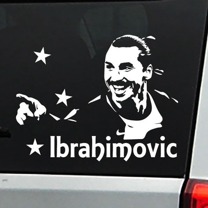 Ibrahimovic Football Player Sticker Sports Soccer Car Decal Helmets Kids Room Posters Vinyl Wall Decals Football Sticker