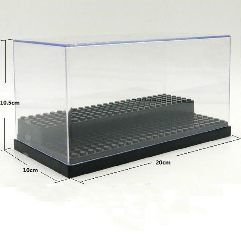 все цены на 2 Steps Display Case/Box Dustproof ShowCase White Black Gray Base For LEGO Blocks Acrylic Plastic Display Box Case 20*10*10cm онлайн