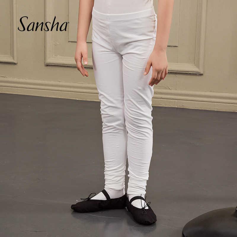 Sansha ชาย Footless Tights ยืดหยุ่นเข็มขัด Professional บัลเล่ต์เต้นรำ Pracice กางเกง Y0151C