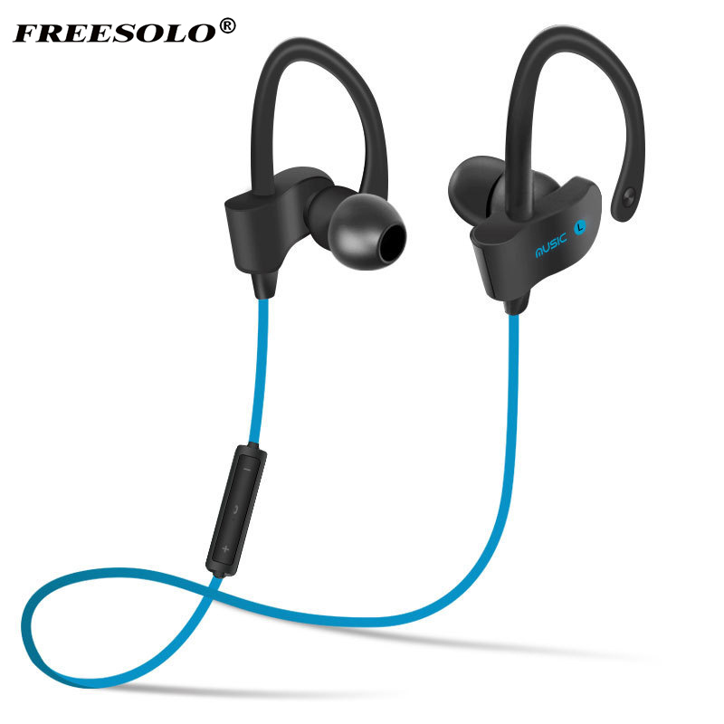 Sports In-Ear Wireless Bluetooth Earphone Stereo Earbuds Headset Bass Earphones with Mic for iPhone 6 Samsung Phone Smartphone