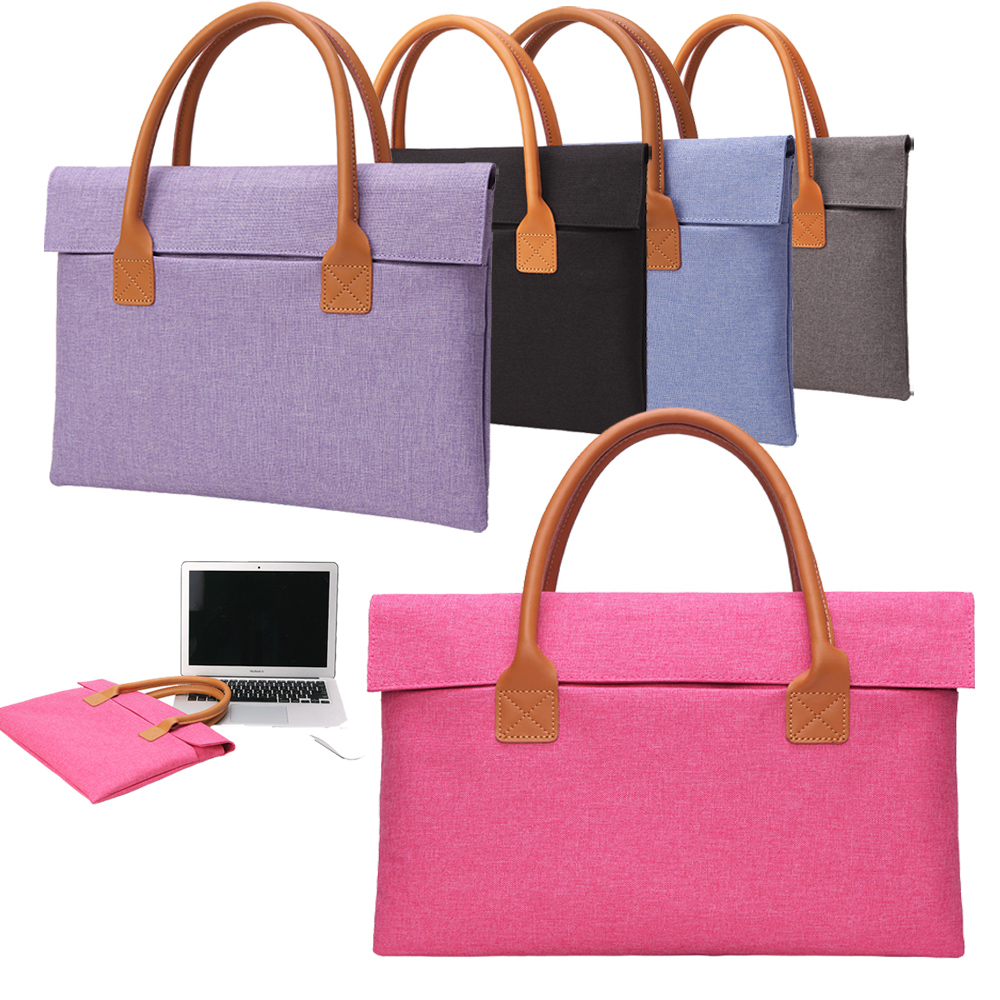 Ultra-thin 12 13 14 15.6 Inch Laptop Bag Portable Briefcase Laptop Case Notebook Sleeve Handbag for Macbook Pro 13 15 Women Men