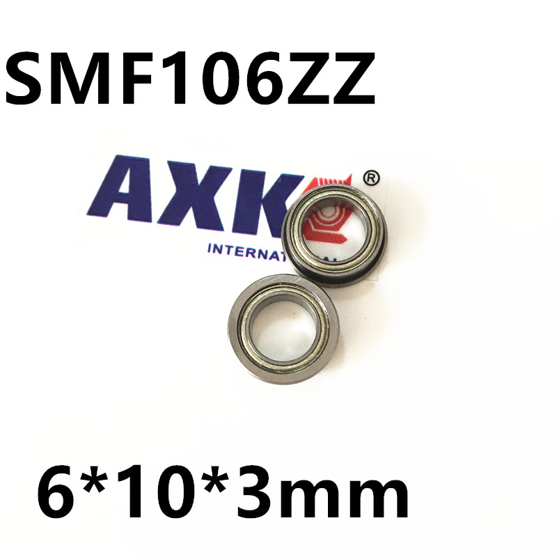 Free Shipping  SMF106ZZ Flanged Bearings 6x10x3 mm Stainless Steel Flange Ball Bearings DDLF-1060ZZ free shipping 10 pcs mf74zz flanged bearings 4x7x2 5 mm flange ball bearings lf 740zz