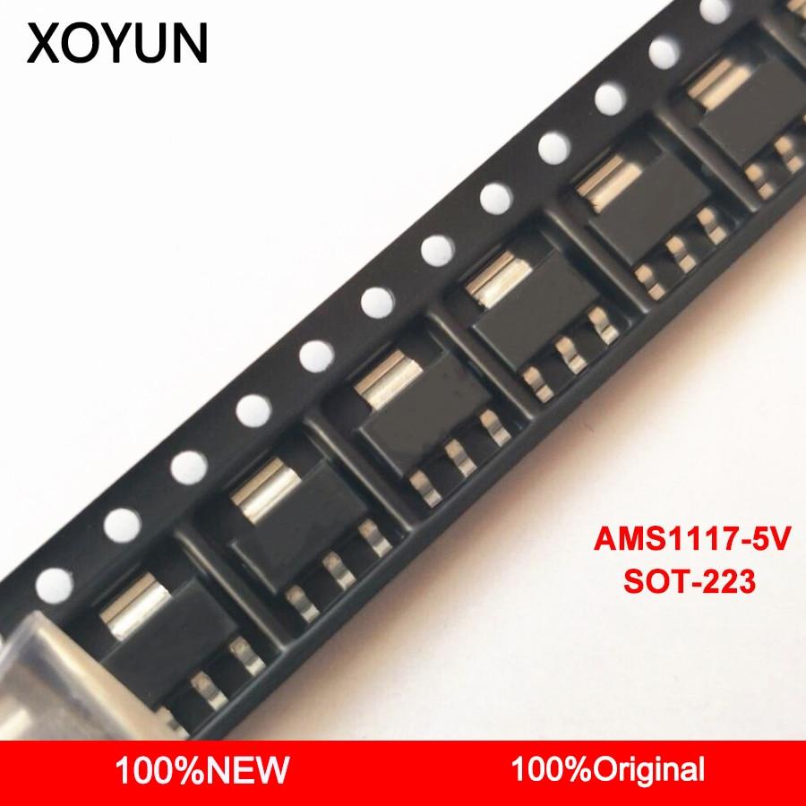 50pieces/lot AMS1117-5.0 AMS1117 5V AMS1117 5V SOT-223 New And Origina