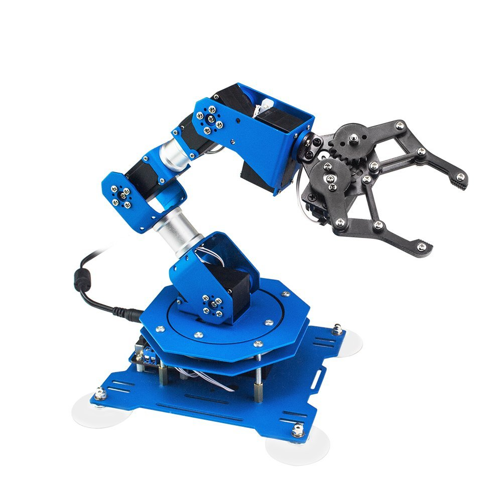 XArm 6DOF Full Metal Programmable Robotic Arm with Feedback of Servo Parameter, Mouse Control, Mobile Phone for Arduino Scratch