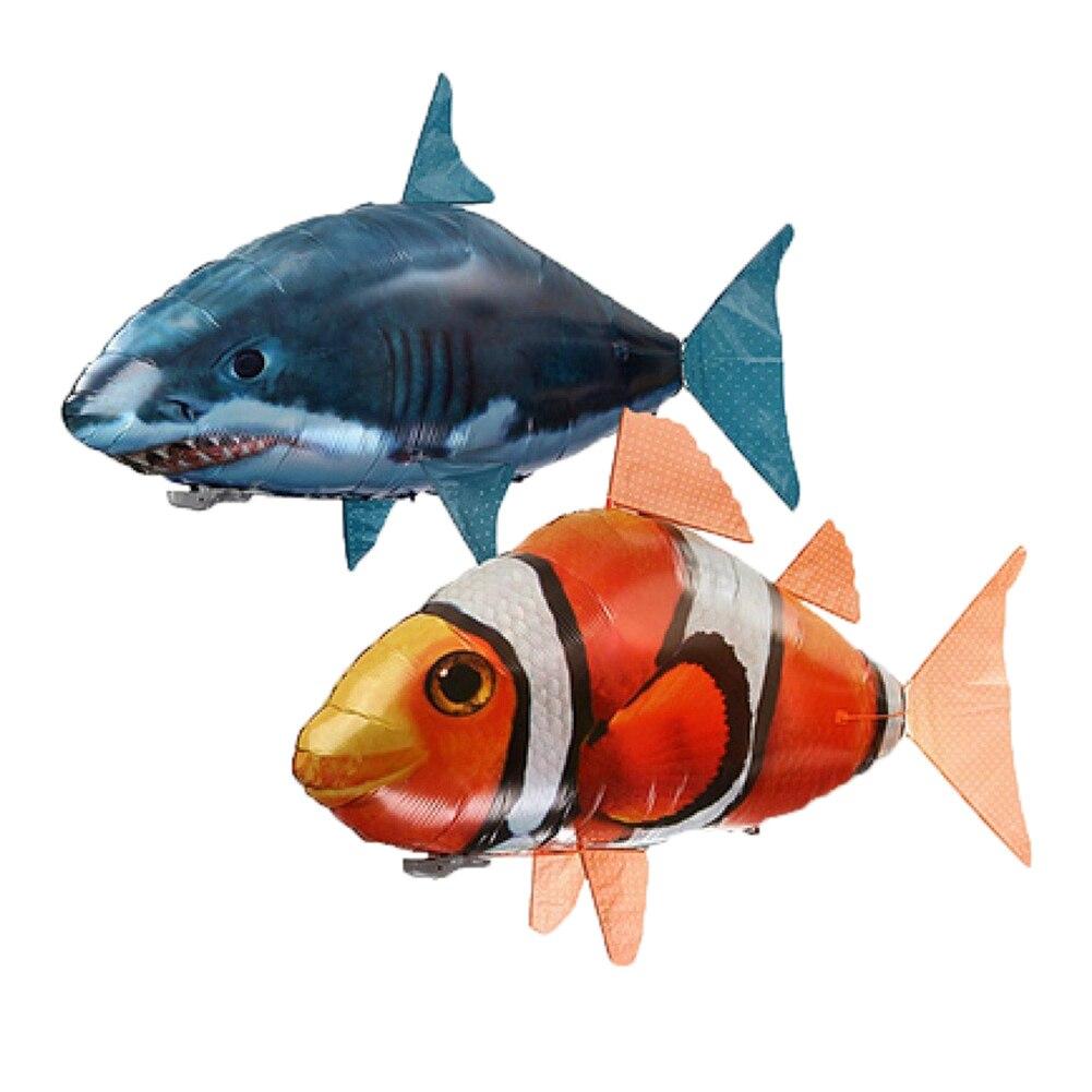 Juguetes de tiburón a Control remoto, juguetes de peces de natación de aire RC, globos de aire volador con Control remoto, regalos de payaso Nemo para niños