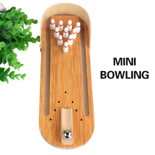 30CM Entertainment Anti-stress Desktop Bowling toys Mini Game Set Wooden Family Fun Toy Funny Party Props Gift For Children Boy egged on board family interactive funny party anti stress toys 10pcs