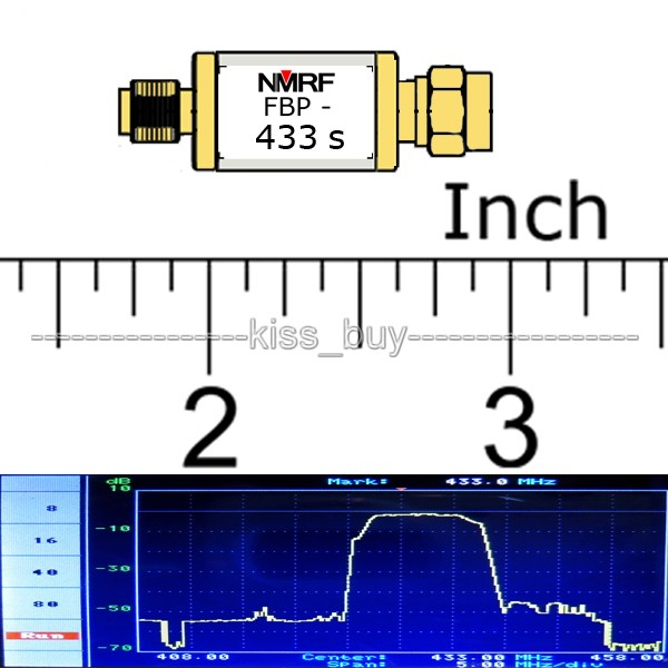 433MHz Bandpass Filter Band Pass; 4 MHz Bandwidth For Aircraft UAV  Anti-interference