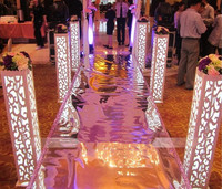 8 units / lot 115 * 20 * 20 cm Carved Pillar Wedding Banquet Lead Road Stand Decoration Fantasy With built in LED Light