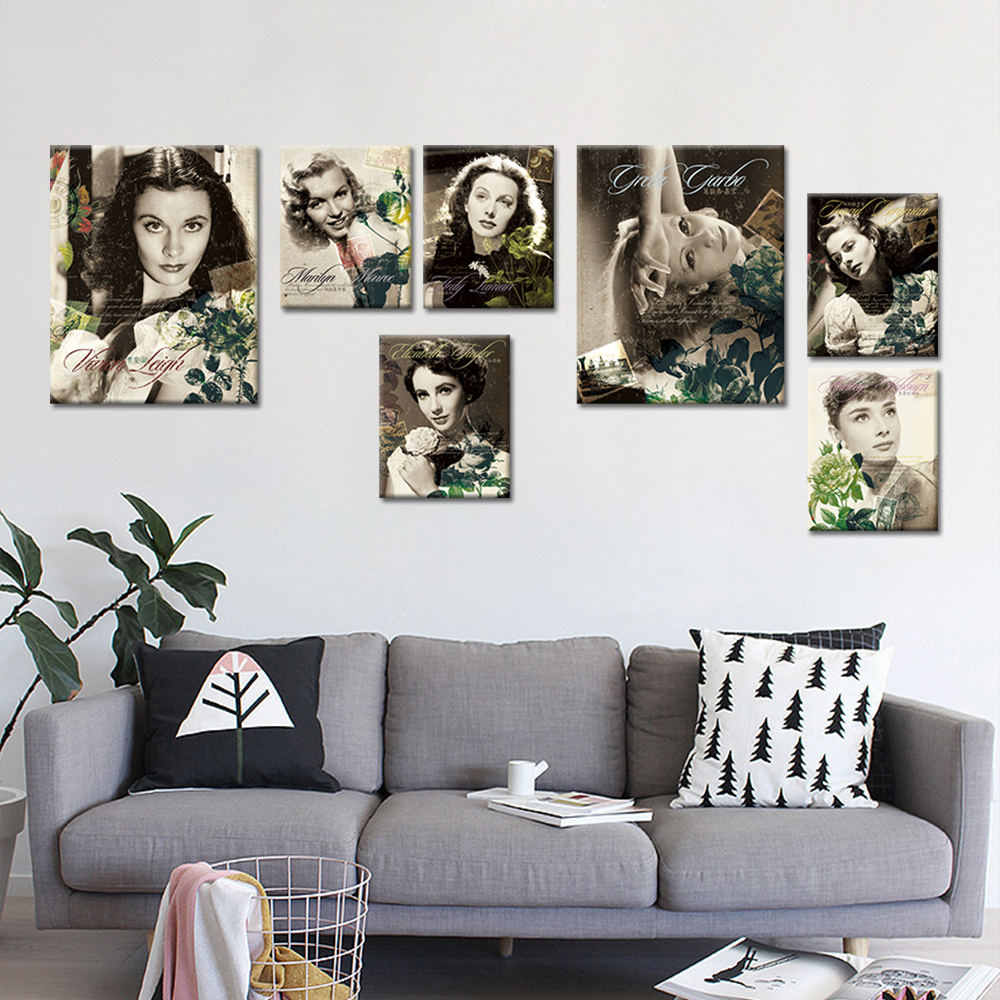 online get cheap simple famous paintings aliexpress com alibaba drop shipping canvas wall art picture famous actress vintage wall poster portrait oil painting canvas print no frame home decor