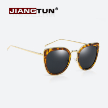 JIANGTUN Newest Alloy Temple Sunglasses Women Cat Eye Sun Glasses Original Brand Designer Gafas Oculos De Sol UV400
