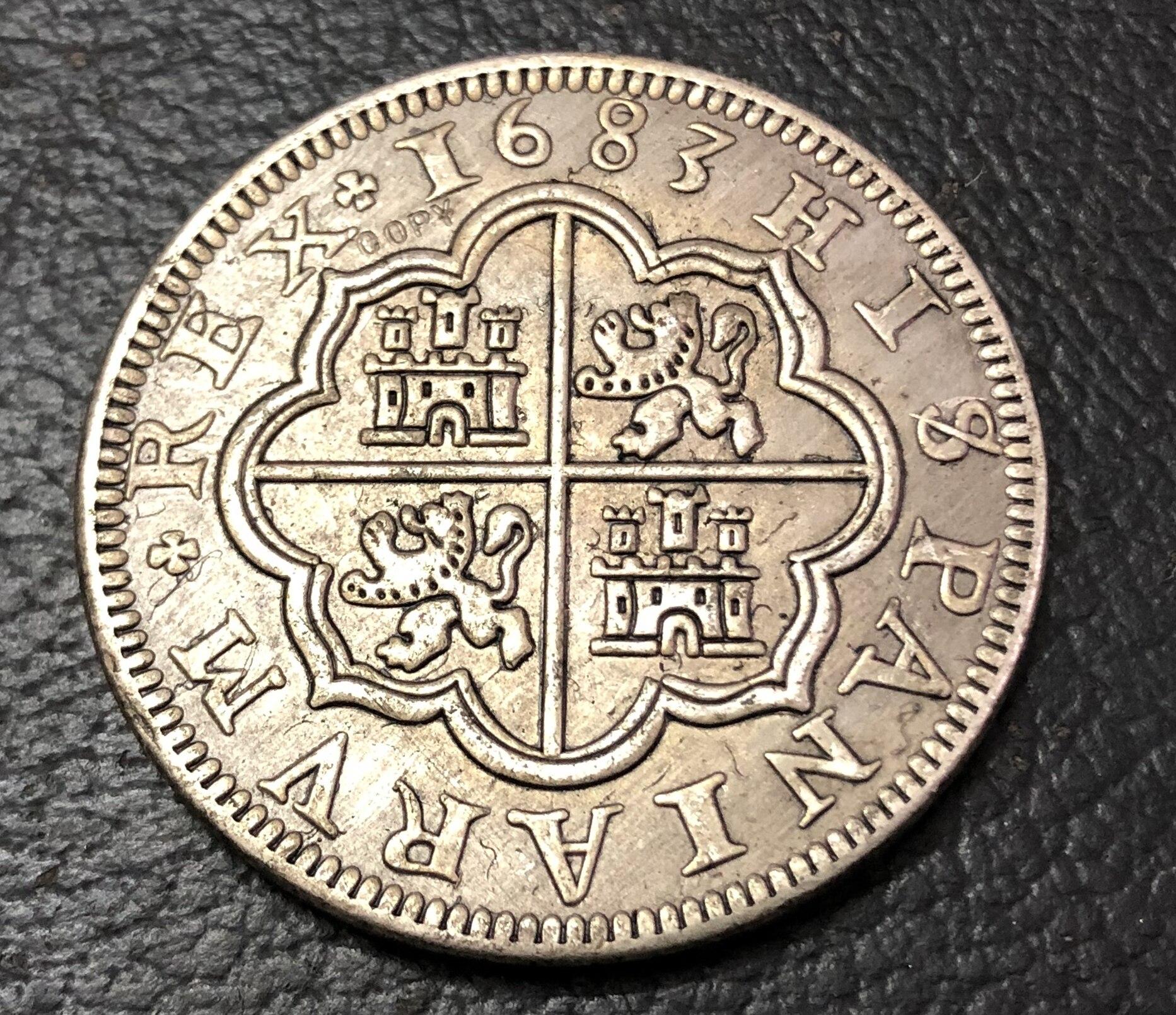 1683 ИСПАНИЯ 8 Reales-Felipe IV копия монеты