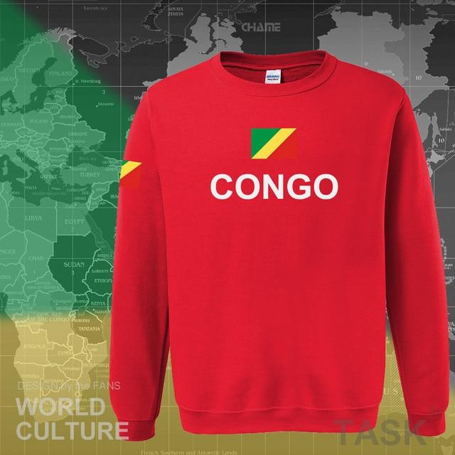 Congo Republic hoodie men sweatshirt sweat new hip hop streetwear tracksuit nation footballer sporting country COG Congolese 3