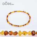 9 Colors 12-48cm Natural Amber Stone Baby Necklace Supply Certificate Authenticity Genuine Baltic Amber Necklace For Adult Baby