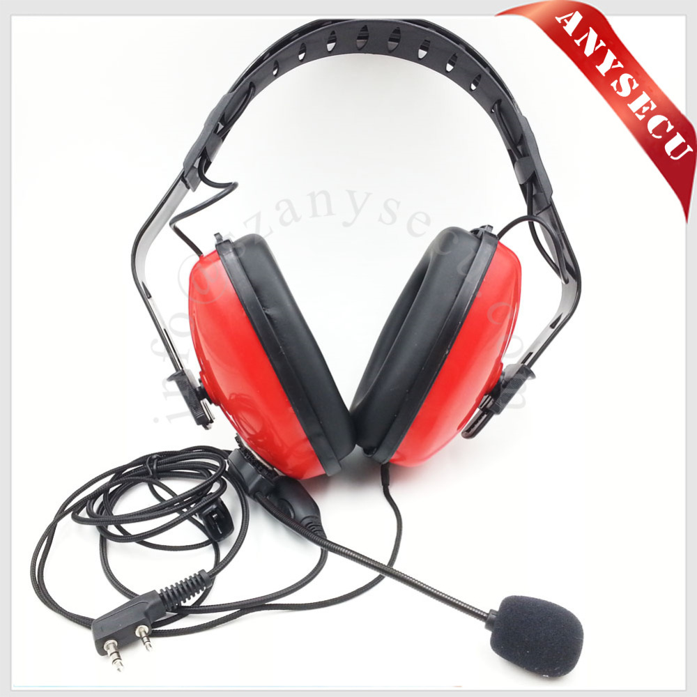 Réduction du bruit Casque D'aviation TD16-R-K1 Pour Baofeng/HYT/TYT/WOUXUN/Puxing/Quansheng Two Way Radio uv5r uv82 bf-888s md380