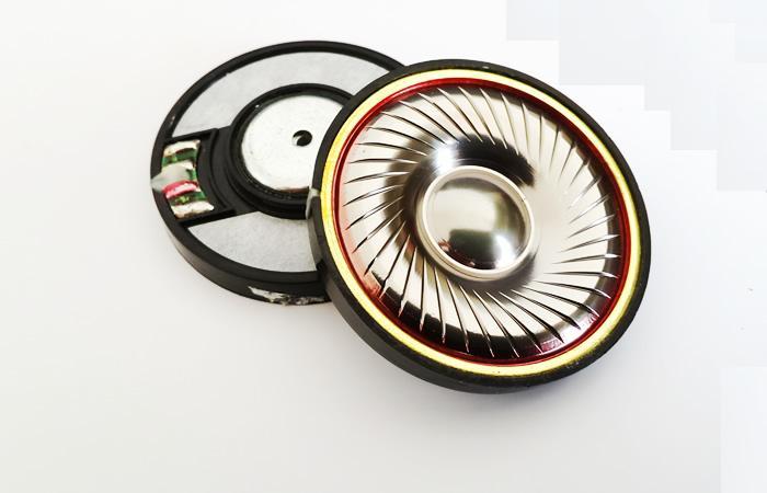 50mm font b speaker b font unit Titanium gold diaphragm 1pair 2pcs