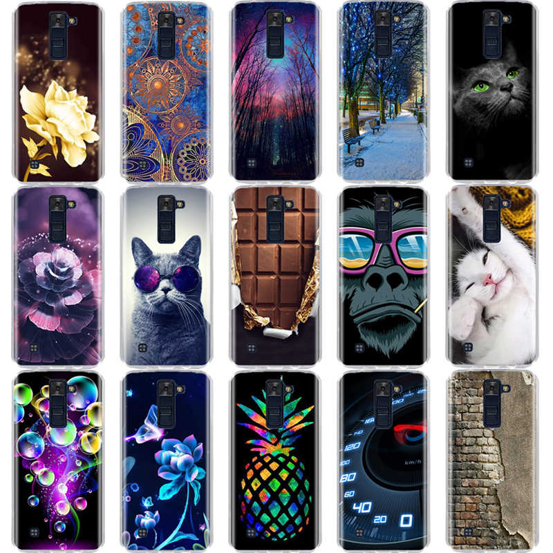 For LG K7 K8 Lte Case Back Cover Soft Silicone TPU Fundas Coque For LG k7 K8 Phone Cases 3D Cute Animal For LG K10 2016 2017 Bag